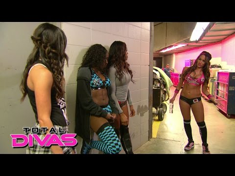 Brie and Nikki Bella butt heads before a match: Total Divas Preview Clip, January 11, 2015