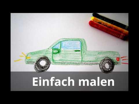Auto zeichnen Fahrzeuge malen lernen – draw a Car – Рисовать Машину – desenhar carro – Araba Çizimi