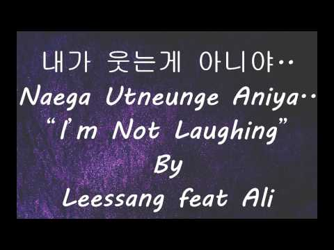 I'M NOT LAUGHING (LYRICS) - LEESSANG FEAT ALI