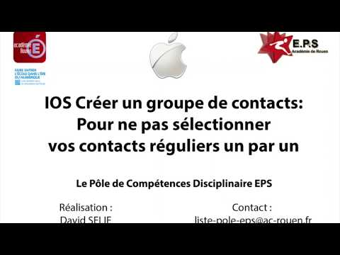 Créer un groupe de contact sous IOS pour envoyer des messag
