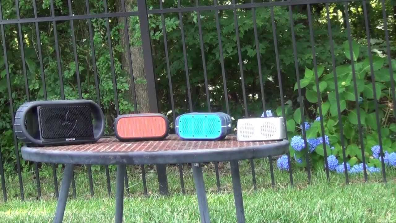 a comparison of weather resistant bluetooth speakers ecogear