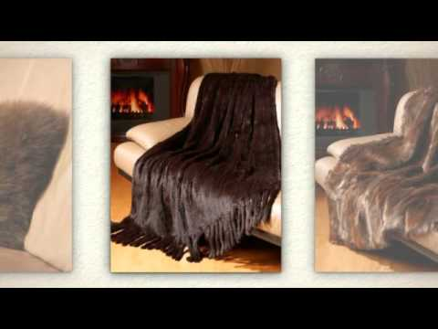 172d6ac10f8 Fur Blankets and Pillows from Fur Source - YouTube