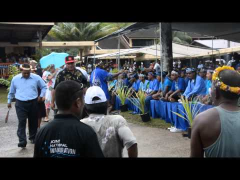 FSM Joint National Inauguration 2015 held in Palikir. Singers from Chuuk (Satowan Group)
