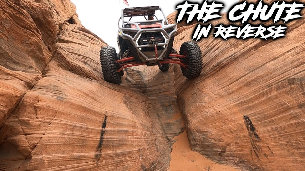 Backing up THE CHUTE in 2 Seat RZR | X3 & KRX Rollover | Triple 7's & Nasty Half | Sand Hollow Utah!