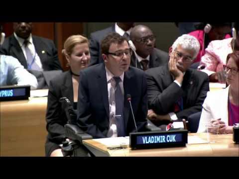 Mr. Vladimir Cuk - International Disability Alliance - UN Sustainable Development Summit
