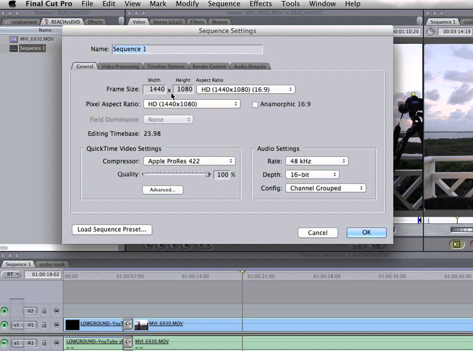 Final Cut Pro 7 Easy Setup And Sequence Settings Micbergsma Youtube