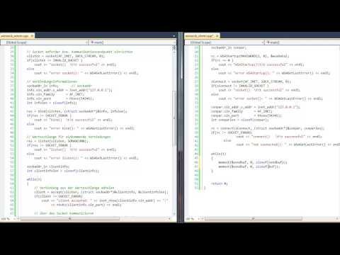 C++ Winsock TCP Client, Datenaustausch (send, recv) - HD german deutsch