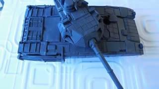 Танк АРМАТА Т-14 из пластилина пародия на испытание танка