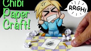 Time Lapse Paper Craft: Frustrated Chibi Artist!
