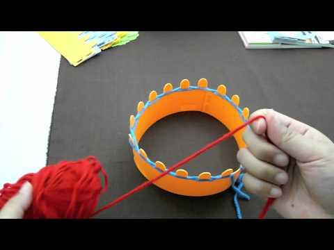 Magic Knit  พันฐาน  2 แถว ถัก K เป็นสี่เหลี่ยม