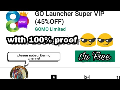 How To Download Go Launcher Super Vip In Free With Proof