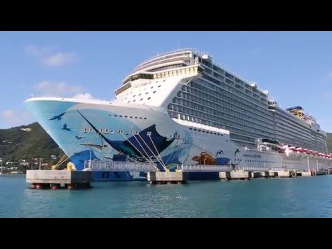 Sailing past the Norwegian Escape - newest cruise ship in the world!