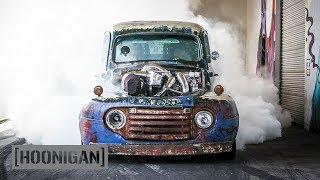 [HOONIGAN] DT 075: 1200HP Twin Turbo Diesel Burnouts (Old Smokey F1) thumbnail