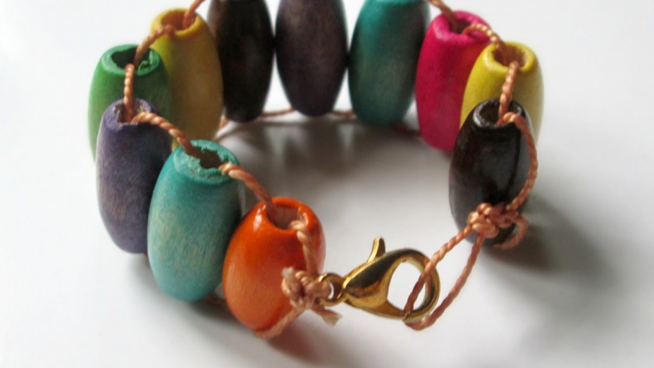 Colorful Wooden Beads Kids Bracelet