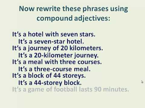 compound adjectives - YouTube