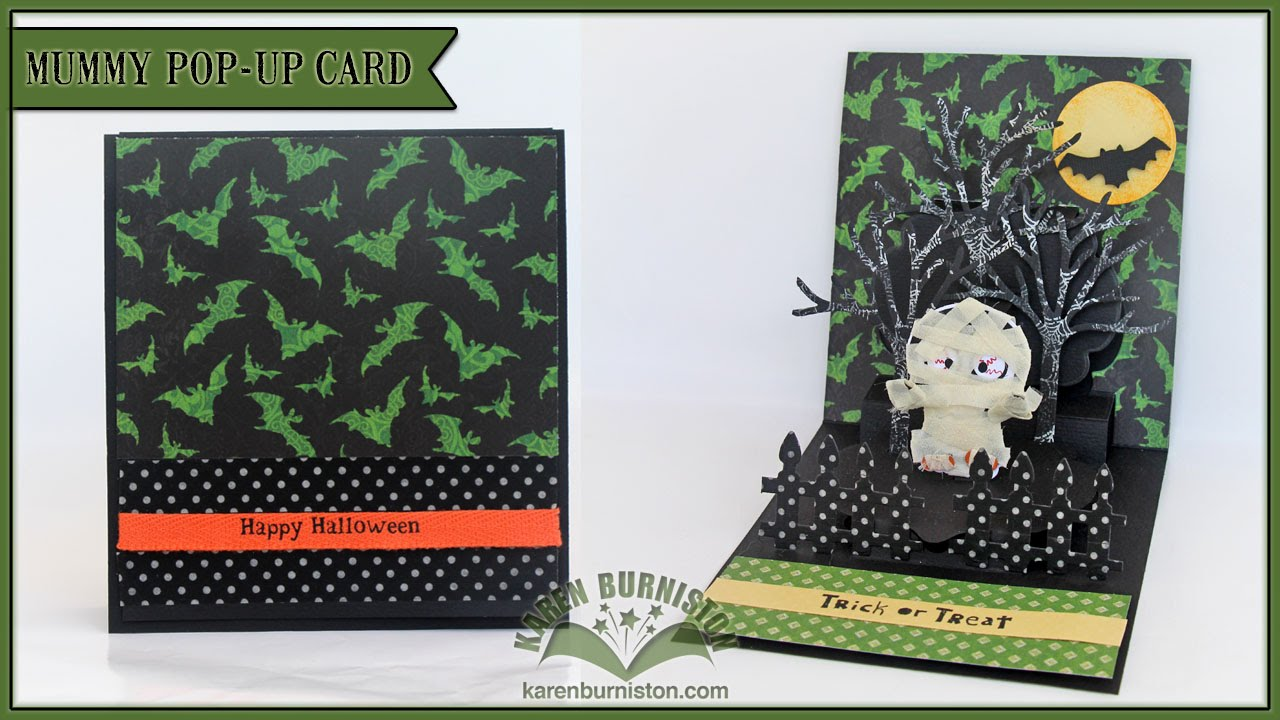 Halloween Pop Up Cards Templates.Pop It Ups Double Lorna Mummy Card By Karen Burniston