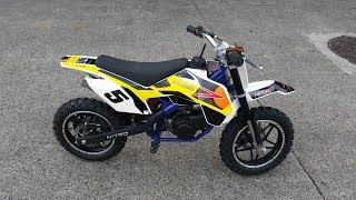 Great Quality Mini Dirt Bike 49cc !!! Pocket Bike Review!