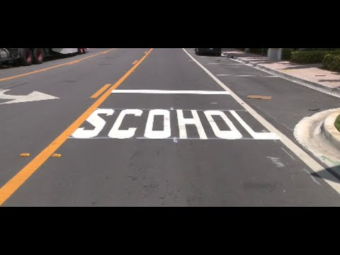 Tony Sandoval on The Breeze - Misspelled crosswalk near a SCHOOL in Florida goes Viral.