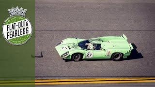 Rumbling Lola T70 thunders round Daytona
