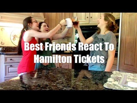 Best Friends React To Hamilton Tickets
