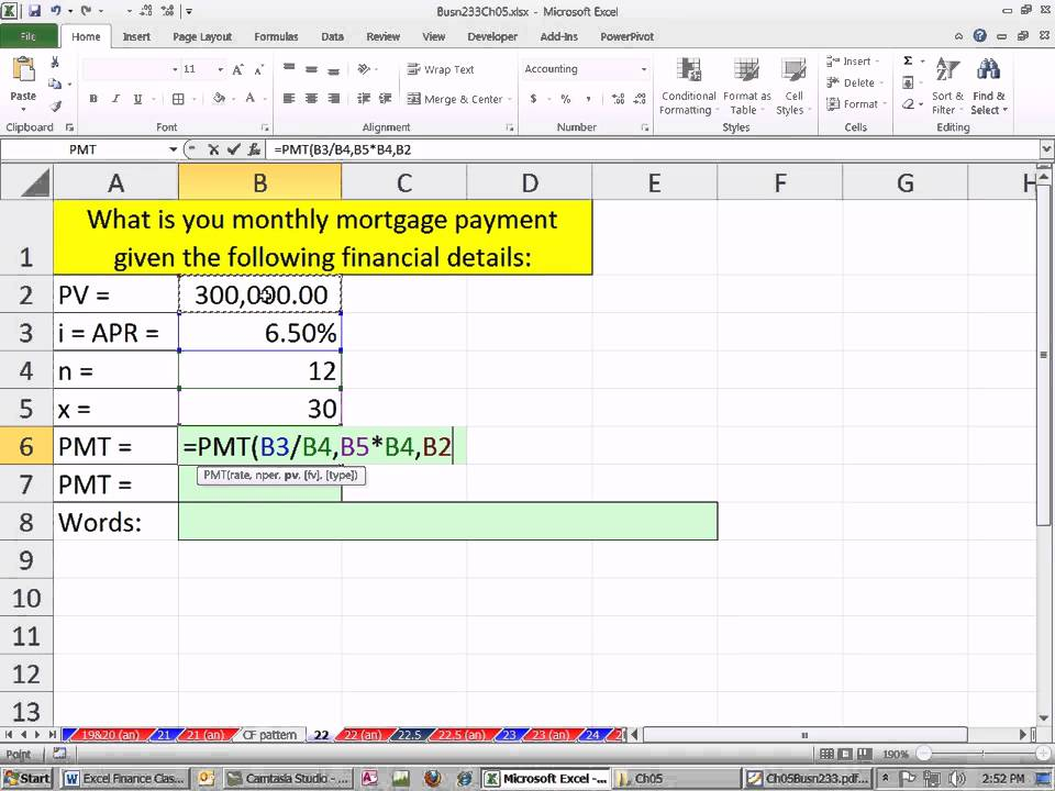 Excel Finance Class  Calculate Pmt For Present Value Of Annuity