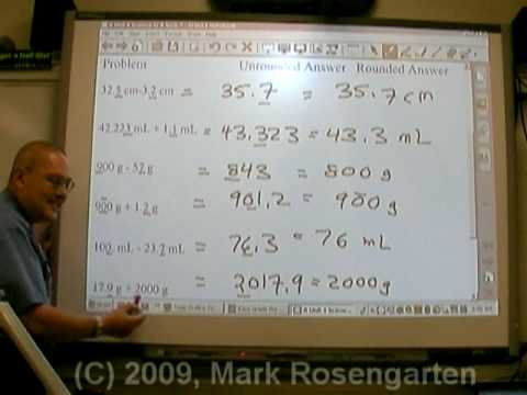 Chemistry Tutorial 1 03 Rounding Off Answers To Math