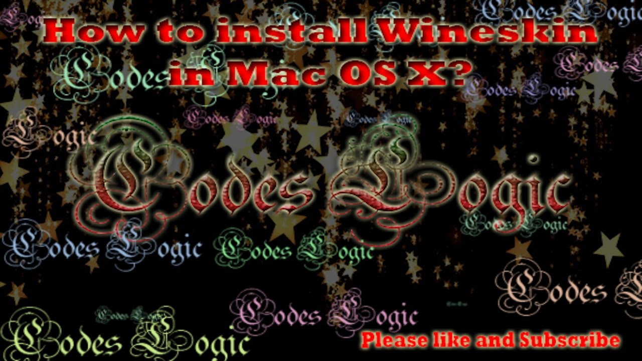 How to install Wineskin in Mac OS X (Sierra)