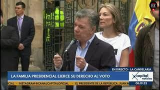 El presidente Juan Manuel Santos ejerce su derecho al voto | El Espectador
