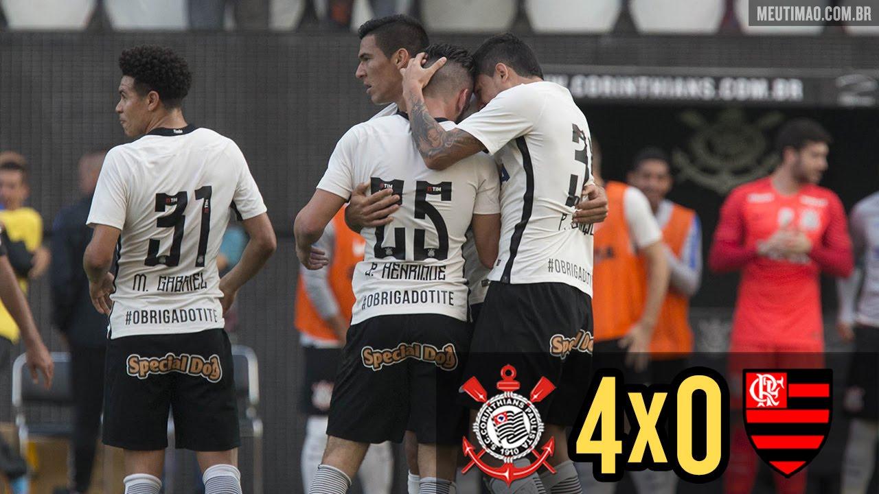 Vídeo Com Dois De Romero Corinthians Goleia Flamengo Por 4