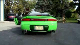 kawasaki green 3000gt vr4 dr750 turbos walkaround and modified exhaust sound