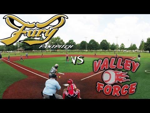 Fury Fastpitch Vegas 02 vs Valley Force 14u fastpitch softball game Capitol City Showdown