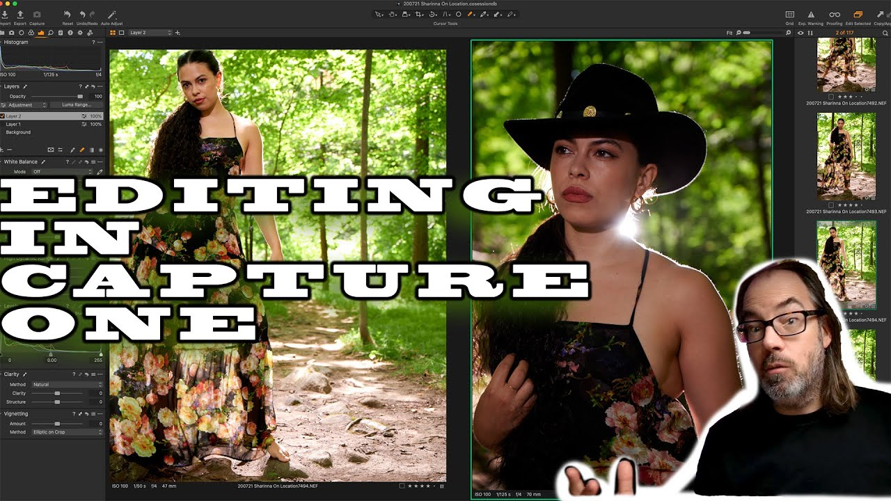 Editing in Capture One. Mixed Natural Light and Flash.