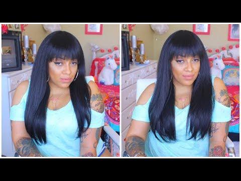 Motown Tress Full Wig w Bang ❤ SYNTHETIC HAIR WIG Y.MAXI Sams Beauty