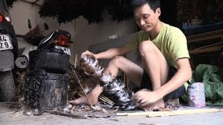Vietnam's chicken feather cleaners face stiff competition