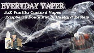 Jax Vanilla Custard Vapes - Raspberry Doughnut & Vanilla Custard