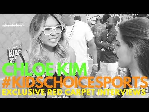 Chloe Kim interviewed at Nickelodeon's Kids' Choice Sports 2016 #KidsChoiceSports