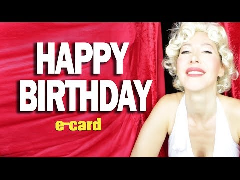 Marilyn Monroe singing Happy Birthday to you funny greeting card adult