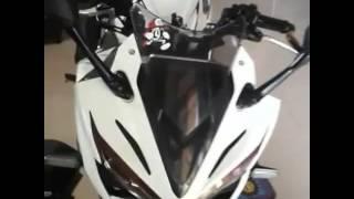 Pemasangan visor dan winglet cbr K45G