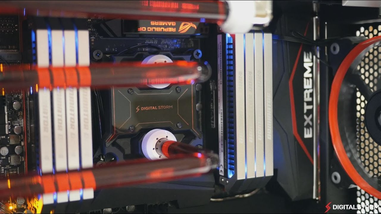 Velox Hard Line Tubing Gaming Pc Build Youtube