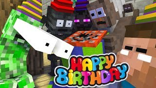Monster School  Granny Birthday Party Challenge - Minecraft Animation