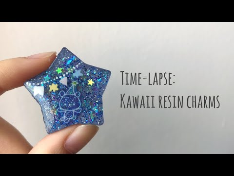 timelapse: kawaii resin charms || craft with me