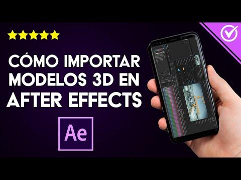 Cómo Importar Objetos o Modelos 3D e Integrarlos a After Effects, Cinema 4D u Otros Programas