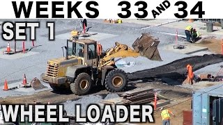 Wheel loader moving dirt from point A to point B at 4x: Musical time-lapse (Weeks 33+34 set 1)