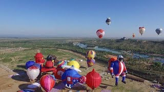 Hot air balloon festival blows to a close in NW China