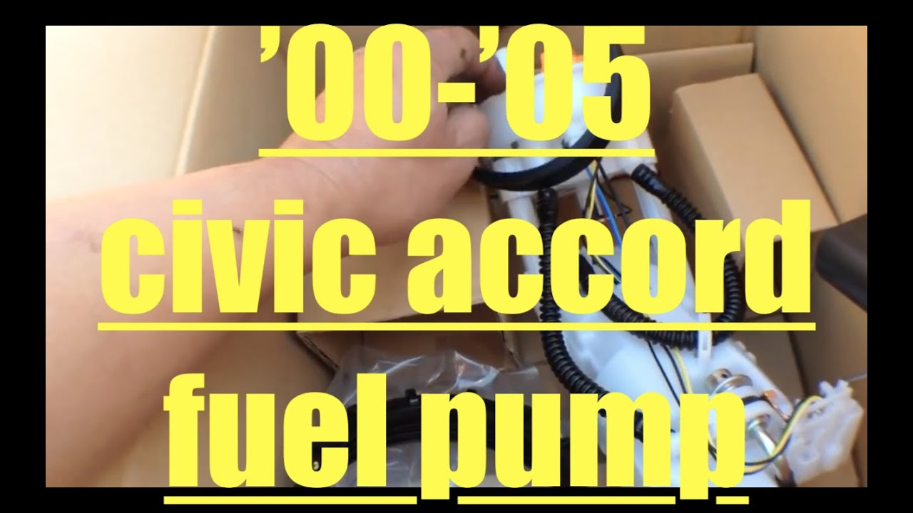 Fuel leak Replace fuel pump Honda Civic Accord radic YouTube