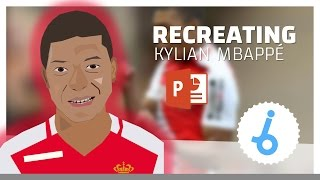 CREATING Kylian MBAPPÉ with Powerpoint [TIMELAPSE] | Footballers #002