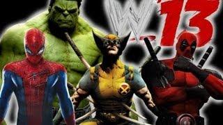 wwe13 spiderman vs hulk vs wolverine vs deadpool fatal 4 way