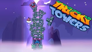 Funny towers #3 Level 21-30. Game review Tricky Towers. Fun game tetris.