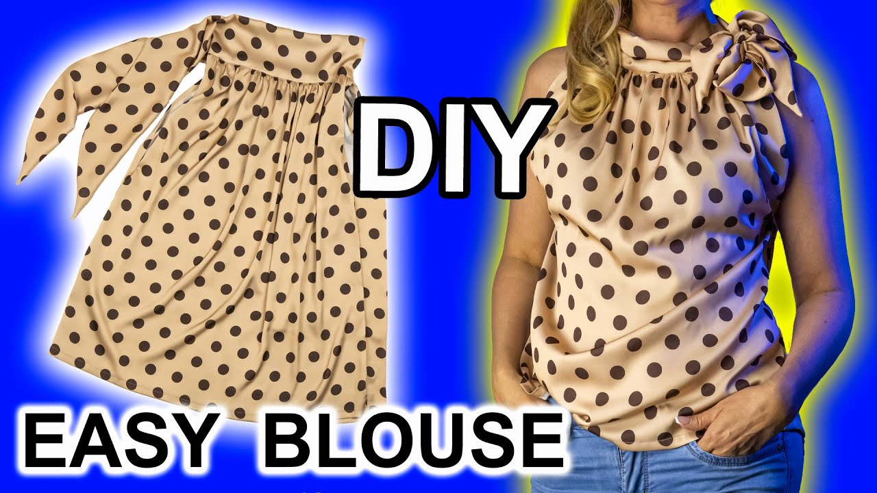 🌟⚡️ An original model of a blouse for beginners. 👍 Very useful tips for sewing.