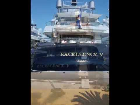 Luxury Yachts in the port of Antibes September 10, 2015
